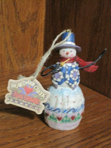 Jim Shore Heartwood Creek Snowman Ornament (2003)