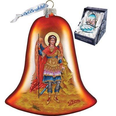 G. Debrekht Saint Michael Bell Glass Ornament