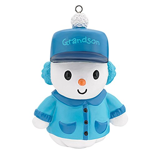 Carlton Ornament 2017 Grandson – Snowman in Earmuffs and Cap – #CXOR018M