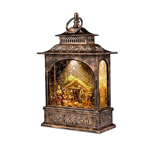 Christmas Nativity Scene Snow Globe Lantern