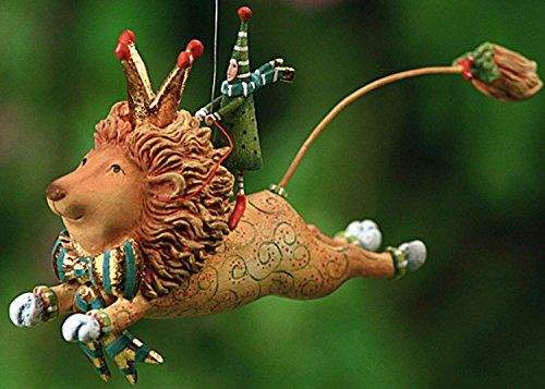 Patience Brewster Krinkles Joyful Flying Lion Christmas Ornament