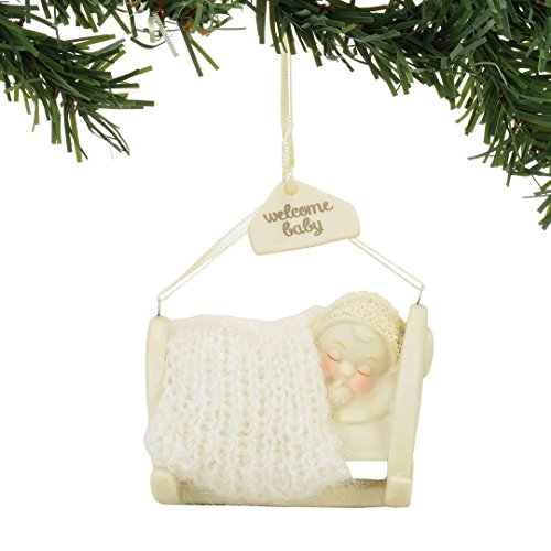 Department 56 Snowbabies Classics 4058531 Welcome Baby Hanging Ornament