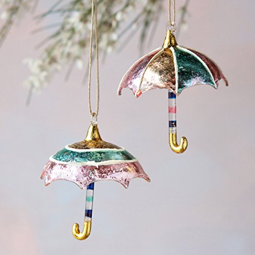 Glass Umbrella Ornament (Circles)