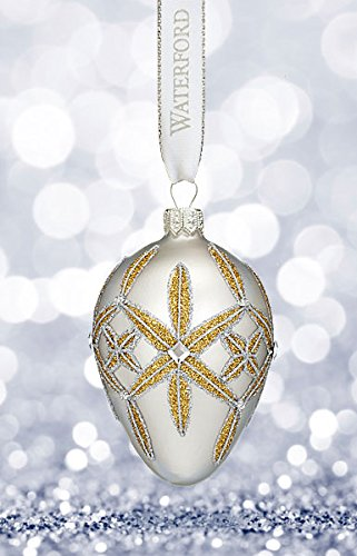 Waterford Winter Frost Lismore Egg Ornament