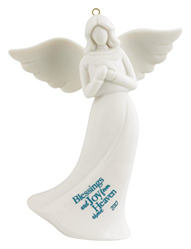Carlton Ornament 2017 Guardian Angel – Blessings and Joy – Porcelain – #CXOR022M