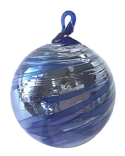 Glass Eye Studio Silver & Multi Cobalt Blue Twist Classic Ornament