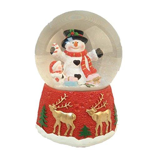 Lightahead Polyresin Christmas Musical Snow Globe Water ball (Snowman)