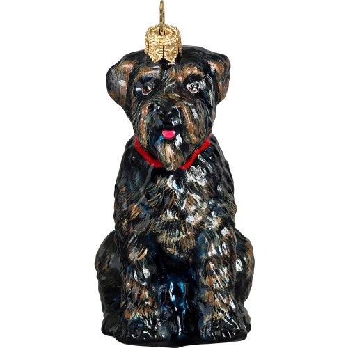 Bouvier De Flandres Polish Glass Christmas Ornament Dog Tree Decoration
