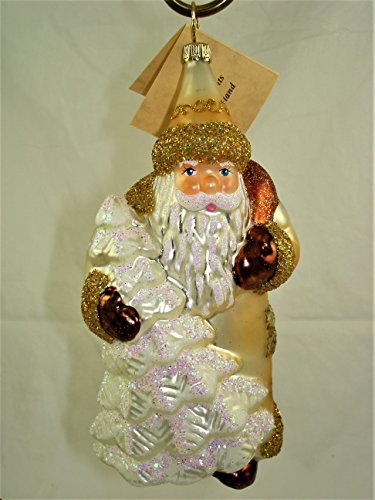 White Flocked Santa – Made by Ino Schaller