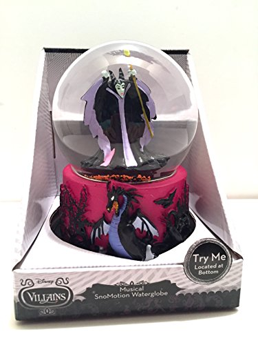 Disney Villains Musical SnoMotion Waterglobe Malificent from Sleeping Beauty Snow Globe