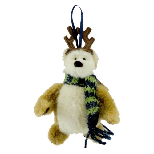 Boyds Bears Plush BEAR WITH REINDEER ANTLERS 562937 Christmas ORNAMENT New