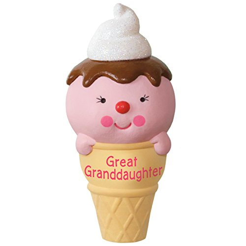 Hallmark Keepsake 2017 Ice Cream Cone Great Granddaughter Dated Christmas Ornament