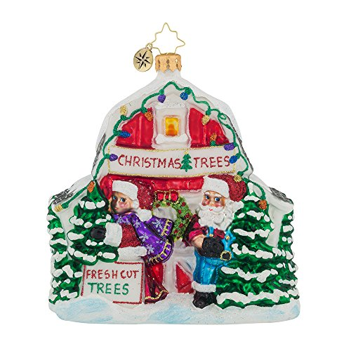 Christopher Radko North Pole Tree Farm Santa Christmas Ornament