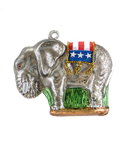 One Hundred 80 Degrees Political Party Hanging Ornament (Republican)