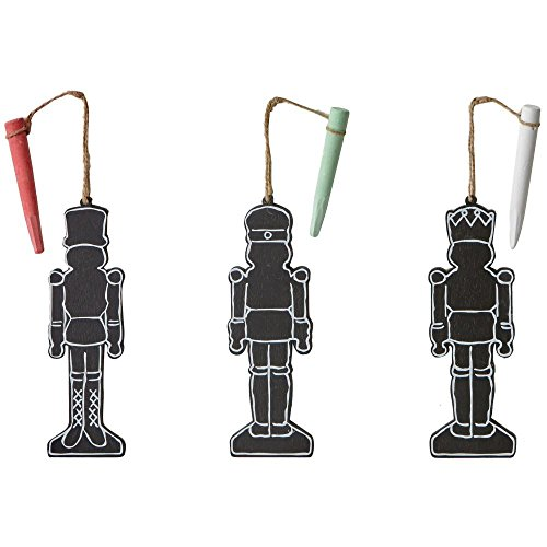 Martha Stewart Living Chalkboard Nutcracker Ornaments- Set of 3
