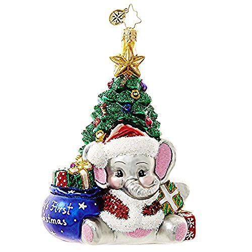 Christopher Radko A Trunk-ful First Christmas Ornament