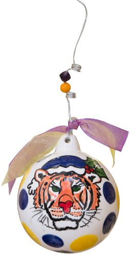 Glory Haus LSU Ball Ornament, 4 by 4-Inch