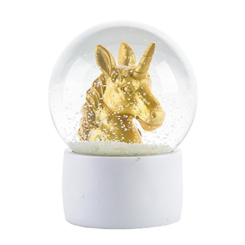 WOBAOS Snow Globes Valentine's day birthday holiday gift Lighting crafts – snowglobes crystal ball new year's gif (Diameter 80mm-100mm) (Diameter 100mm, Unicorn)