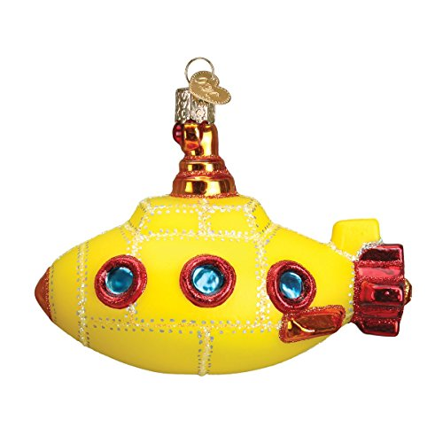Old World Christmas Groovy Submarine Glass Blown Ornament