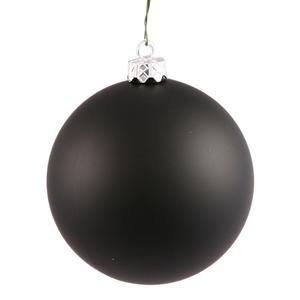 Vickerman 34858 – 3″ Black Matte Ball Christmas Tree Ornament (12 pack) (N590817DMV)