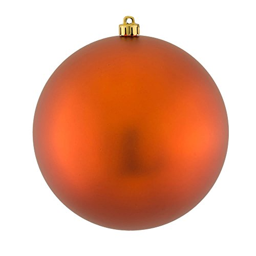 Vickerman Matte Finish Seamless Shatterproof Christmas Ball Ornament, UV Resistant with Drilled Cap, 12 per Bag, 2.75″, Copper