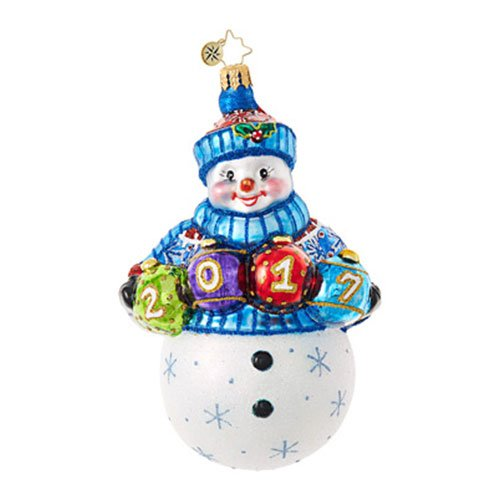 Christopher Radko A Fun and Frosty Year Dated Christmas Ornament