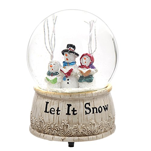 Musical Polystone Water Glass Snow Globe (1, Let it Snow)