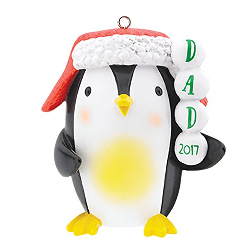 Carlton Heirloom Ornament 2017 Dad – Penguin with Hat – #CXOR014M