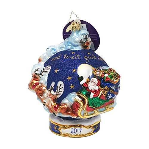 "Christopher Radko Handcrafted Christmas Ornament: ""Christmas Around the World"" Collectible Item #3013295 –Limited Edition 2017 Dated Glass Bauble Similar To #1017975 -Only 120 Units"