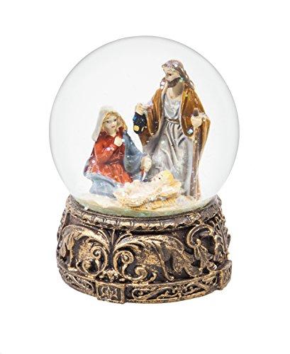 Cypress Home Nativity Silent Night Musical Snow Globe