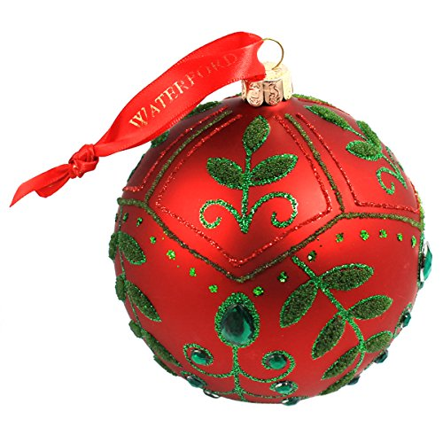 Waterford Holiday Red Mistletoe Ball Ornament