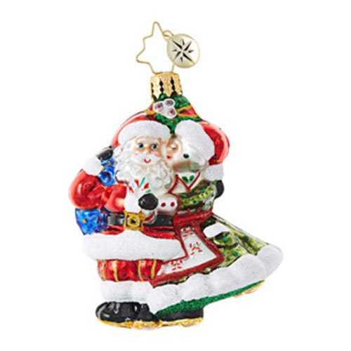Christopher Radko Mr & Mrs Mistletoe Little Gem Christmas Ornament