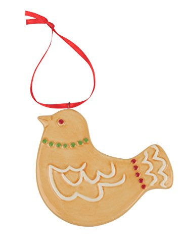 Spode Christmas Tree Ornament, Gingerbread Dove