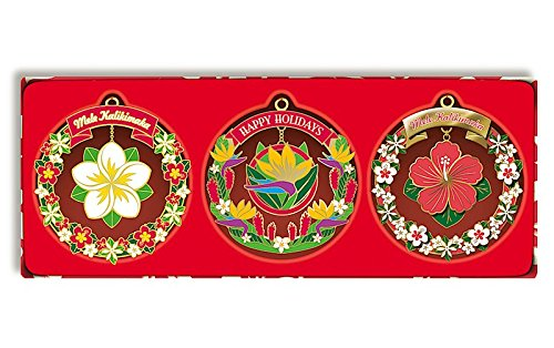 Hawaiian Mele Garden 3 Pack Collectible Metal Ornaments