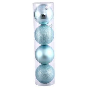 Vickerman 24″ Baby Blue 4 Finish Ball Ornament 24 per Box