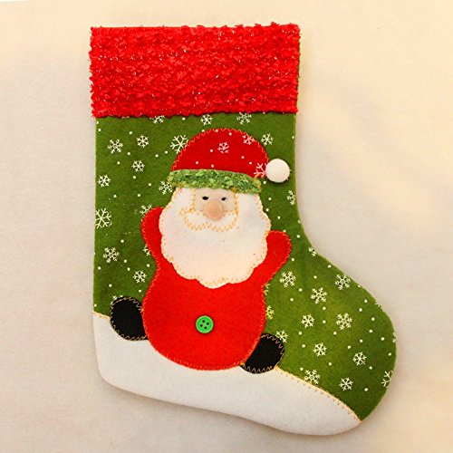Zehui Candy Bag Christmas Festival Party Stocking Candy Bags Christmas Santa 13x26cm