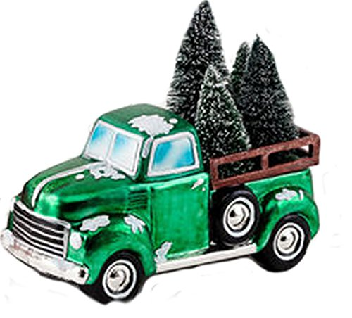 One Hundred 80 Degrees Vintage Pick Up Truck Tabletop Holiday Decoration (Green)