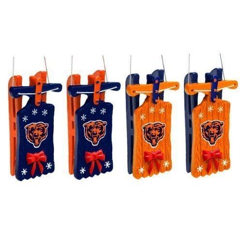 Chicago Bears Sleigh Ornament 4 Pack