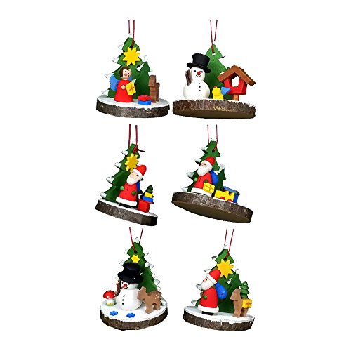 "10-0839 – Christian Ulbricht Ornament – Assorted Treeslice (Set 6) – 2″""H x 1.5″""W x 1.5″""D"