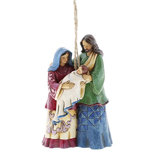 Enesco Jim Shore Heartwood Creek Holy Family Ornament 4058837