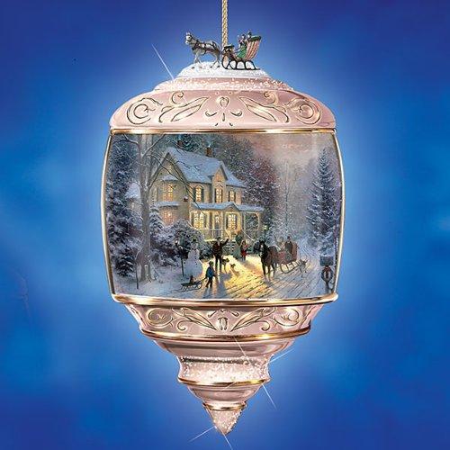 Thomas Kinkade HOME FOR THE HOLIDAYS Porcelain Ornament