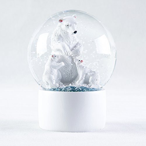 APELPES Snow Globes crafts- Sculptured Snowglobes – Christmas Valentine's day birthday holiday new year's gift (Diameter 100mm, Bear)