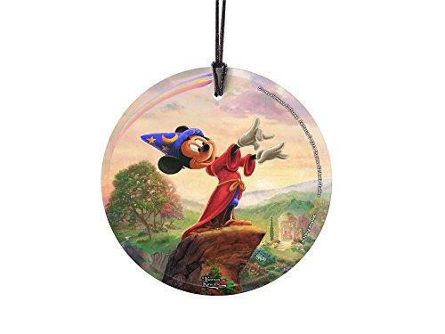 Disney Thomas Kinkade Mickey Mouse Fantasia StarFire Prints Hanging Glass