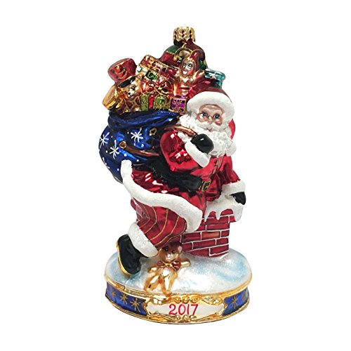 "Annual Collection Christmas Glass Ornament By Christopher Radko: Limited Edition 2017 Dated ""Christmas Wishes"" Collectible Item #3013296-Only 72 Made For Artsihome-Similar To #1017968"