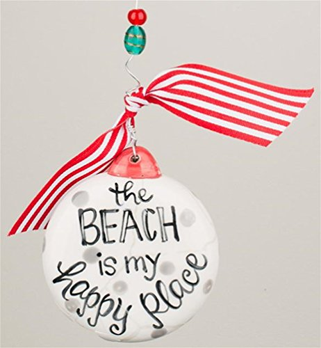 Glory Haus Beach Is My Happy Place Puff Ornament
