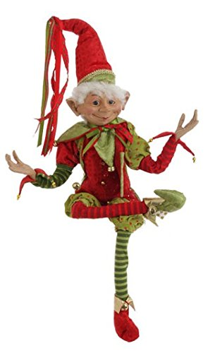 RAZ Imports – 30″ Posable Elf (Red Hat)
