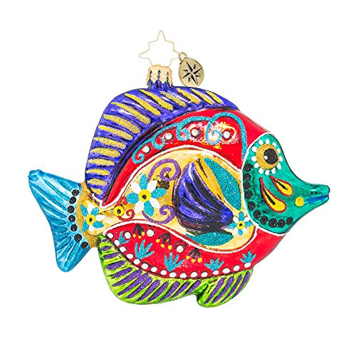 Christopher Radko Fish with a Flourish Animal Christmas Ornament