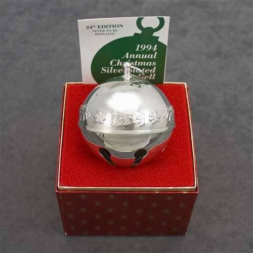 1994 Sleigh Bell Silverplate Ornament by Wallace