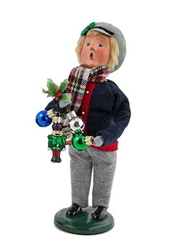 Byers Choice 2017 Ornament Boy plus Free Byers Gift Box