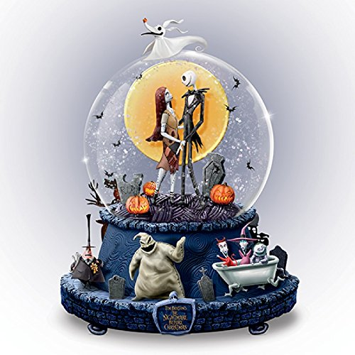 Disney The Nightmare Before Christmas Musical Glitter Globe With Rotating Base by The Bradford Exchange